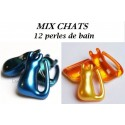Mix chats 12 perles | 2 parfums